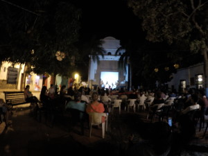 Panel discussion at Jesus Nazareno square