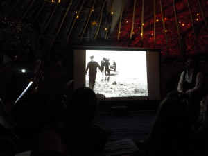 Mairi (1912) gets the live treatment at Cinemor77's yurt, August 2016