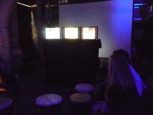 Screens and drums at Hidden Door festival, Edinburgh, June 2016